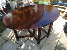 Large wooden oval Kitchen Extending Dining table | folding RARE