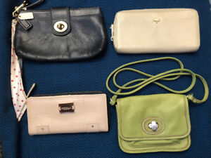 Authentic Wallets & Wristlets (Coach, Fossil, Mulberry, Modalu)