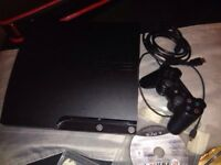 PS3 slim 320gb 1pad 11 games