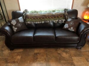 FOR SALE: BROWN LEATHER COUCH