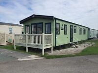 Static CARAVN for sale ocean edge holiday park Morecambe 12 month season 5*facilities