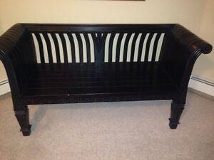 Black Mahogany Bench