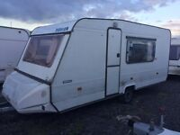 Adria lux 1995 caravan 5 berth with end Fixed bunk beds