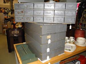 Mid Century Industrial Metal Storage Units Retro Vintage