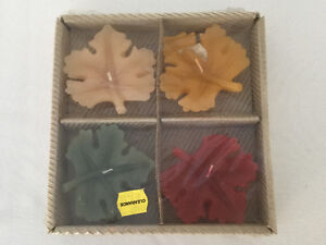 Leaf Candles - Set of 4 in Package - Pottery Barn Windsor Region Ontario image 1