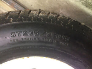 Trailer tires .One   205/75 R 14 and one205/75R 15