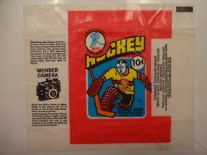 cartes de hockey opc 76-77 emballage wax wrapper