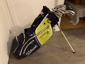 Set (or individual) Titleist + Taylormade Golf Clubs and Bag