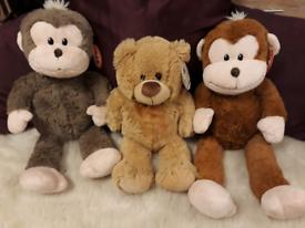 Monkeys and Teddy Bear Soft Toys