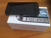 iPhone 4S + charging case, excellent condition