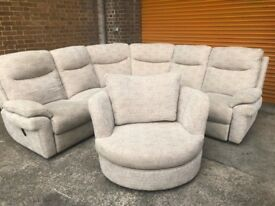 LAZ-Boy TAMLA corner reclining sofa with swivel love seat ex display