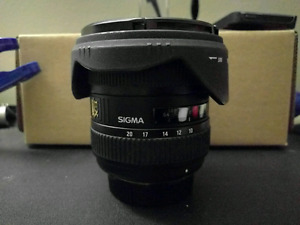 Sigma 10-20mm 4-5.6 DC HSM ultra wide angle lens