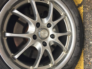 225/55/17r winter tires with alloy rims London Ontario image 7