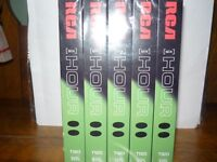 Set of 5 RCA Videocassette Tapes 6 hour