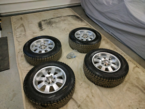 Gmc and chevrolet winter wheel and tire package