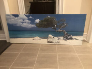 Ikea beach scene art work