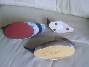 Three Painted Wood Carved Water Fowl North Shore Greater Vancouver Area image 2