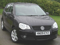 Volkswagen POLO 1.4 Match TDI ( 70ps ) 2009 5-dr Black