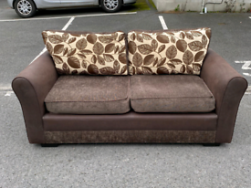 Brown Fabric 3 Seater Sofa 🤩excellent condition