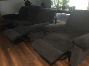 Sofa 3 places inclinable  et 1 fauteuile inclinable