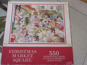 Christmas Market Square - 500 Piece Jigsaw Puzzle by Gibson
