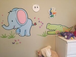 Vinyl peel and stick wall decals