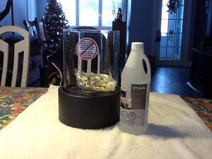 le foyer de table et 1 bouteille d alcool 946ml.