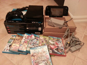 Wii-U 32GB Deluxe Set with 7 games and the Pro Controller