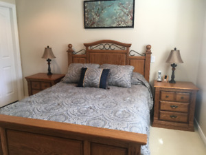 SOLID OAK 5 PIECE BEDROOM SUITE...FOR ONLY $1500