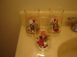 COLLECTOR'S HOLLY HOBBIE XMAS COKE GLASSES & 2 OTHERS London Ontario image 2