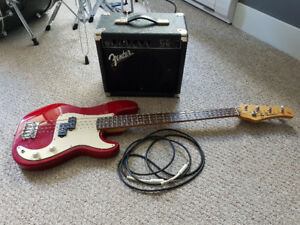 Beginner bass guitar and amp...SOLD