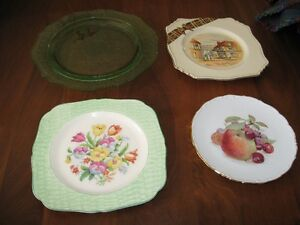 4 beautiful fancy china serving plates for cake, cookies, etc