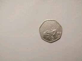 Rear Paddington 50p coin.