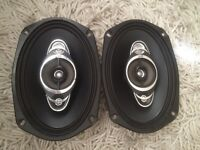 Jvc 490w car speakers (6x9 stereo parcel shelf door head unit)
