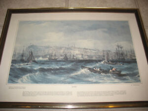 4 Canadian Historical Watercolour Prints -Courtesy J. Ross Rober