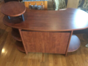 Cherry Finish Office Desk