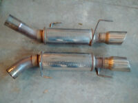 2 Magnaflow mufflers from 07 Shelby GT500
