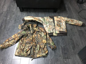 Youth hunting camo 2 in 1 jacket