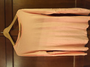 Lululemon Pink Long Sleeve Tee Long Length Size 10