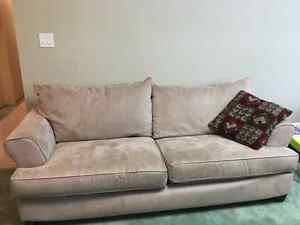 Couch and Love Seat - Microfiber Microfibre - 100 for both