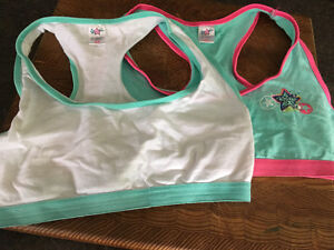 Girls size medium sports bras