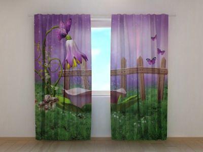 Curtain Fairy Wellmira Custom Made Window Printed 3D Fairytale Motif Kid's Room - Fairy Customes