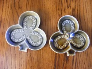 2 WADE - IRELAND - TRINKET DISHES - SELLING AS 1 LOT