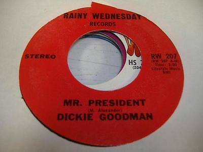 Comedy Spoken Word Unplayed Nm  45 Dickie Goodman Mr  President On Rainy Wednesd