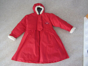 Brand New Girl's Red Dress Coat - Size 10