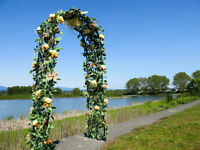 Summer yellow wedding arch rental service