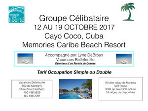 Groupe célibataire - Memories Caribe, Cayo Coco, Cuba