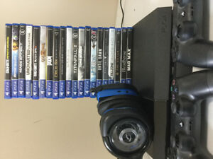 PS4 500G + 20 Games + 2 Controllers