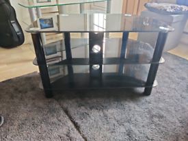 Free Black Glass TV Stand