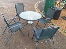 Garden Patio Set Folding chairs. Good condition. Can deliver